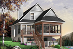 Modern House Plan Front Photo 01 - 032D-0696 | House Plans and More