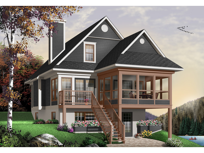 Modern House Plan Front Photo 02 - 032D-0696 | House Plans and More