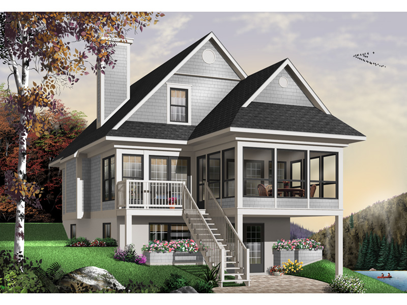 Modern House Plan Front Photo 03 - 032D-0696 | House Plans and More