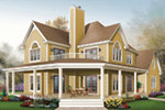 Plantation House Plan Front Image - 032D-0702 | House Plans and More