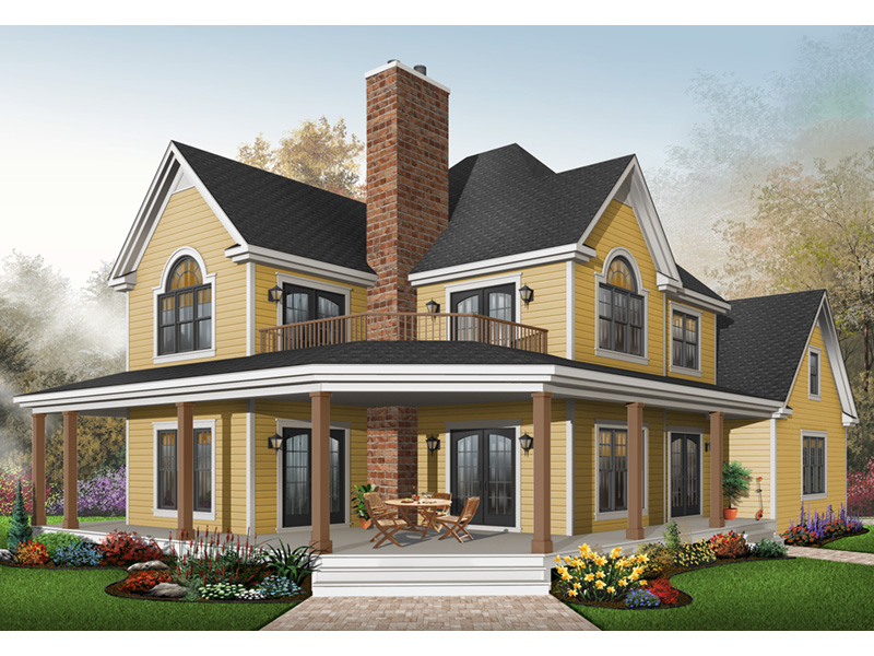 Plantation House Plan Front Photo 03 - 032D-0702 | House Plans and More