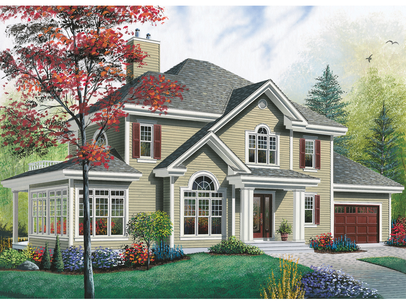 Neoclassical Home Plan Front Image 032D-0703
