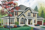 Neoclassical Home Plan Front Image - 032D-0703 | House Plans and More