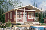 Vacation House Plan Front Image - 032D-0710 | House Plans and More