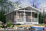 Vacation House Plan Front Photo 01 - 032D-0710 | House Plans and More