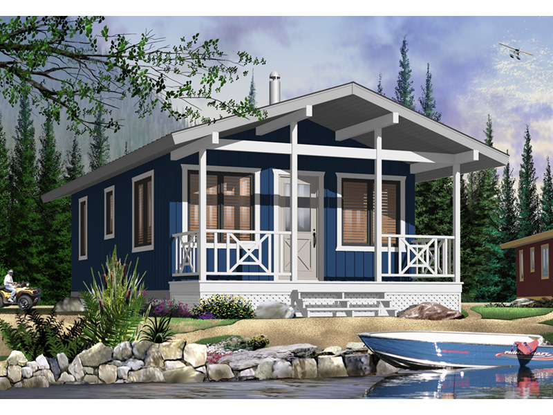 Vacation House Plan Front Photo 03 - 032D-0710 | House Plans and More