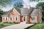 Ranch House Plan Front Photo 01 - 032D-0712 | House Plans and More