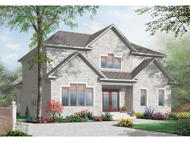 Country French Home Plan Front of Home - 032D-0713 | House Plans and More