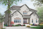 Tudor House Plan Front of Home - 032D-0713 | House Plans and More