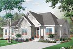 Country French Home Plan Front of Home - 032D-0714 | House Plans and More