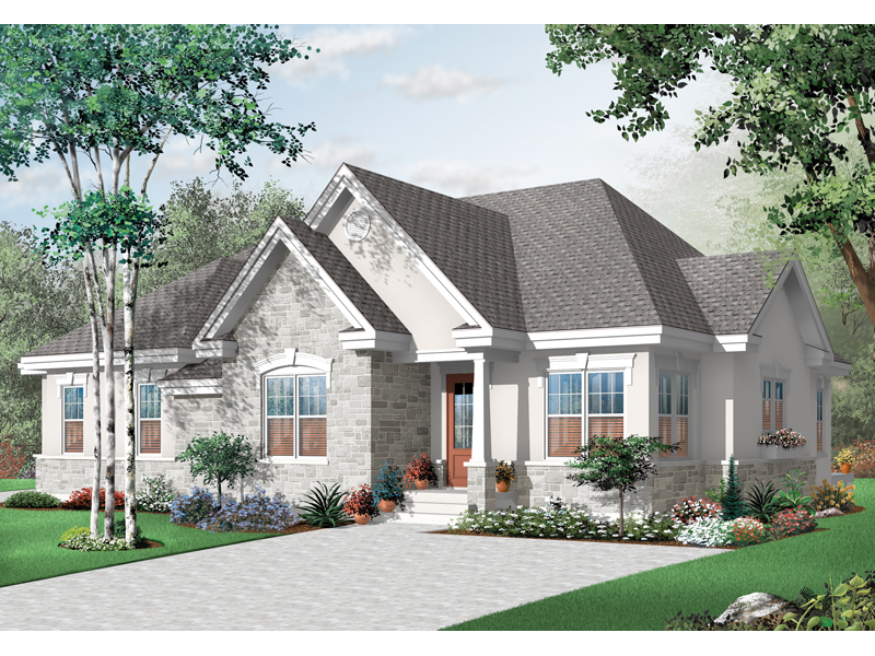 Early American House Plan Front of Home - 032D-0715 | House Plans and More