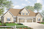 Early American House Plan Front of Home - 032D-0719 | House Plans and More