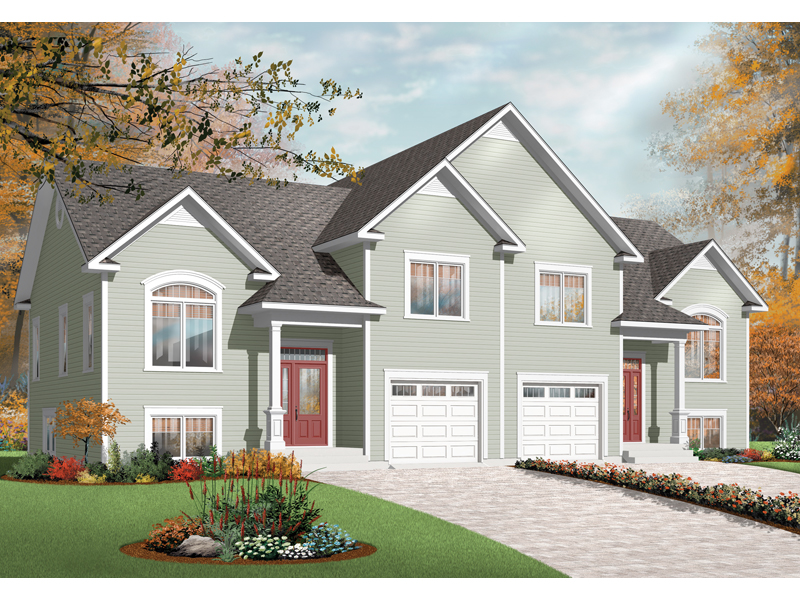 Multi-Family House Plan Front of Home - 032D-0720 | House Plans and More