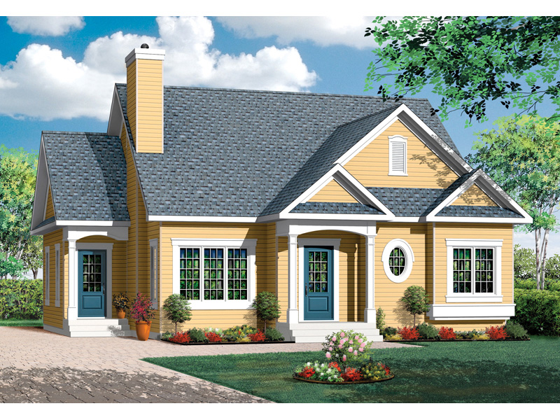 Early American House Plan Front Image - 032D-0722 | House Plans and More