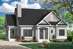 Early American House Plan Front of Home - 032D-0722 | House Plans and More