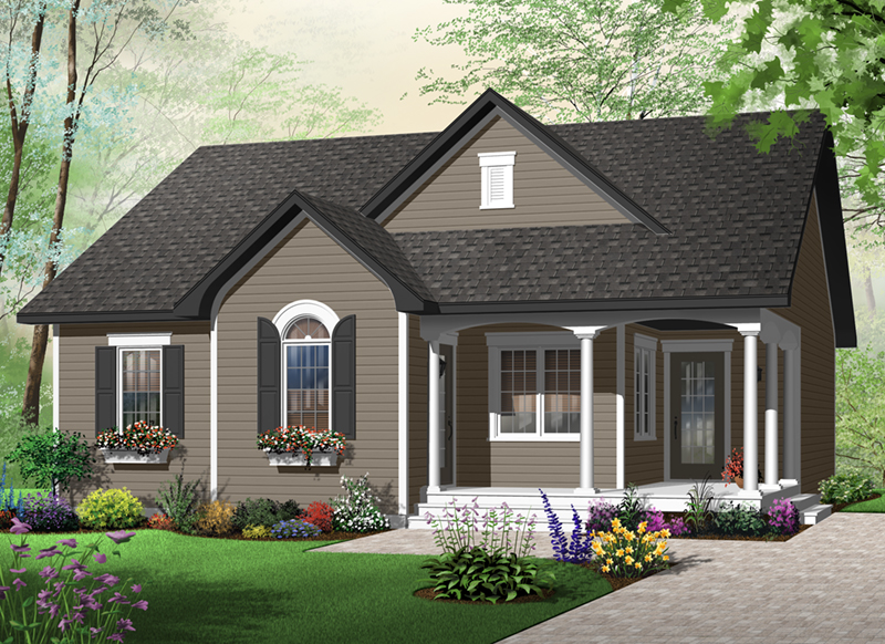 Ranch House Plan Front of Home - 032D-0723 | House Plans and More