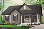 Early American House Plan Front of Home - 032D-0723 | House Plans and More