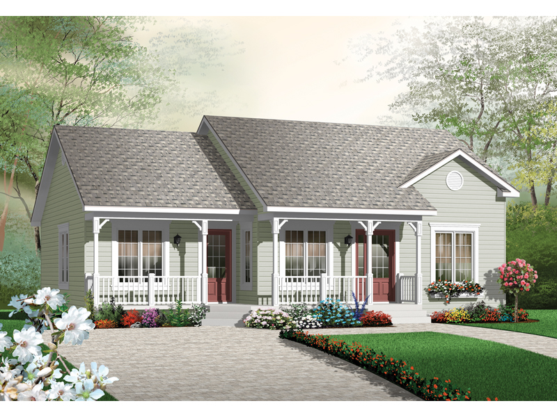Early American House Plan Front of Home - 032D-0724 | House Plans and More
