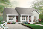 Ranch House Plan Front of Home - 032D-0724 | House Plans and More