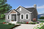 Cabin and Cottage Plan Front of Home - 032D-0725 | House Plans and More