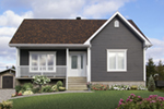 Bungalow House Plan Front of Home - 032D-0726 | House Plans and More