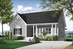 Ranch House Plan Front Photo 01 - 032D-0726 | House Plans and More
