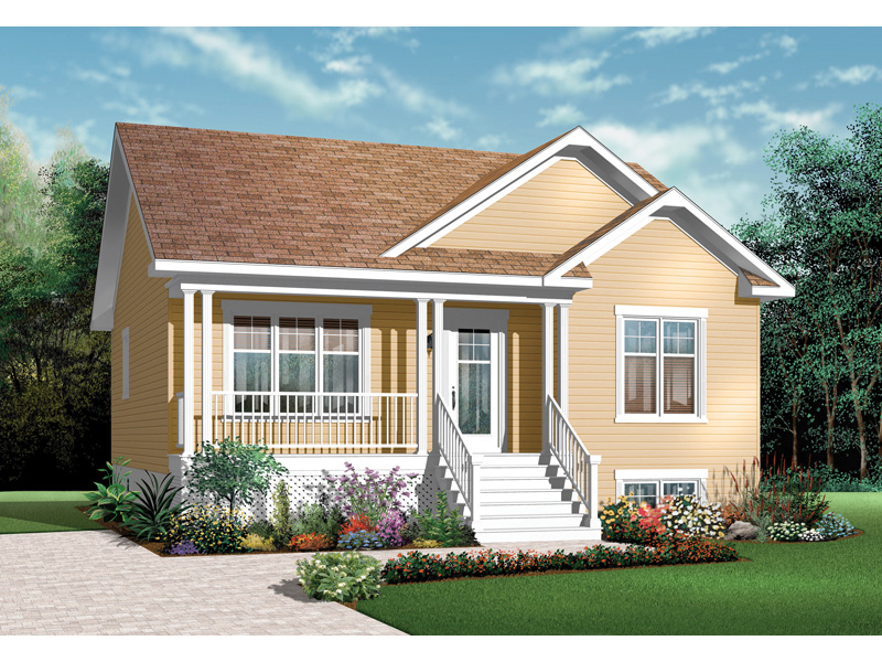 Ranch House Plan Front Image - 032D-0727 | House Plans and More