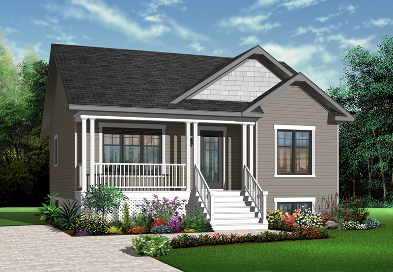 Arts & Crafts House Plan Front of Home - 032D-0727 | House Plans and More