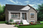 Bungalow House Plan Front of Home - 032D-0727 | House Plans and More