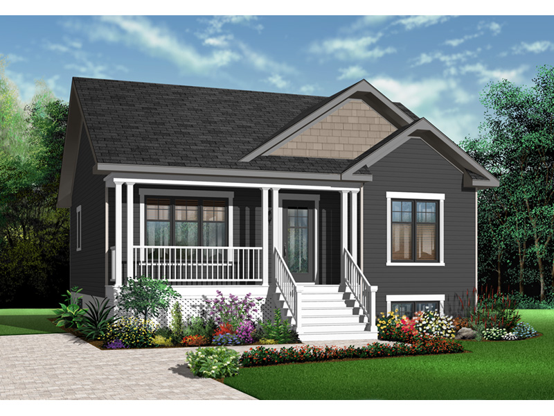 Ranch House Plan Front Photo 02 - 032D-0727 | House Plans and More