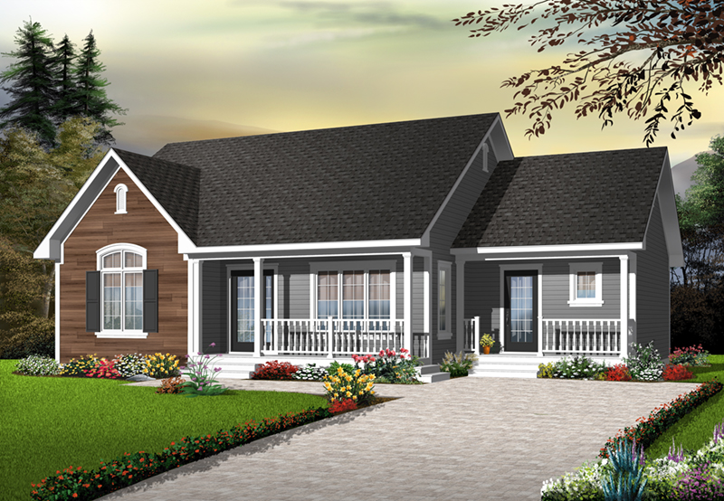 Arts and Crafts House Plan Front of Home - 032D-0728 | House Plans and More