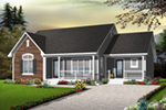 Bungalow House Plan Front of Home - 032D-0728 | House Plans and More