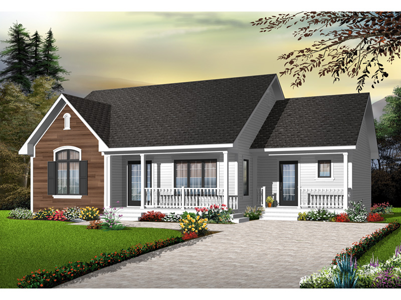 Ranch House Plan Front Photo 02 - 032D-0728 | House Plans and More