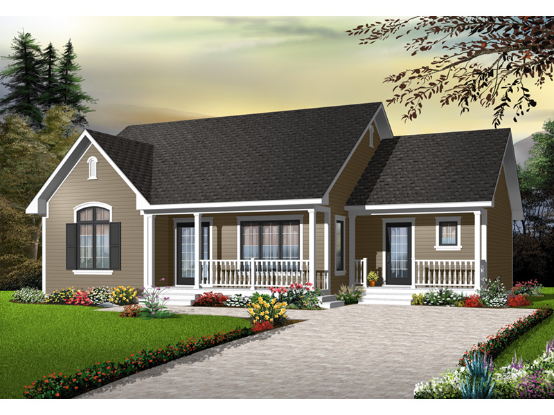 Ranch House Plan Front Photo 03 - 032D-0728 | House Plans and More