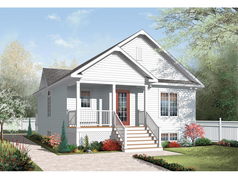 Early American House Plan Front of Home - 032D-0729 | House Plans and More