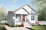 Ranch House Plan Front of Home - 032D-0729 | House Plans and More