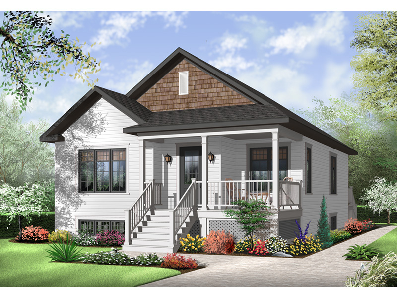 Bungalow House Plan Front of Home - 032D-0730 | House Plans and More
