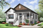 Ranch House Plan Front of Home - 032D-0730 | House Plans and More