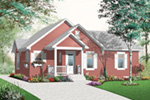 Bungalow House Plan Front Image - 032D-0732 | House Plans and More