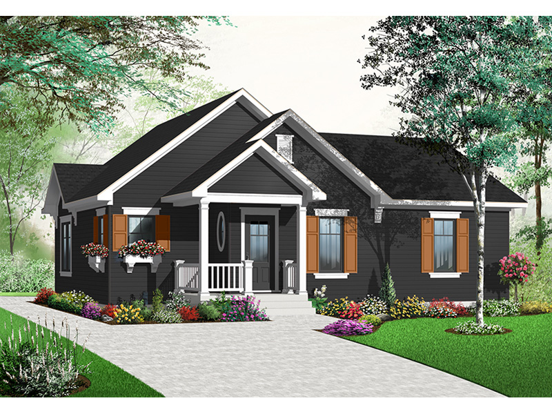 Bungalow House Plan Front Photo 03 - 032D-0732 | House Plans and More