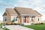 Arts & Crafts House Plan Front Image - 032D-0733 | House Plans and More
