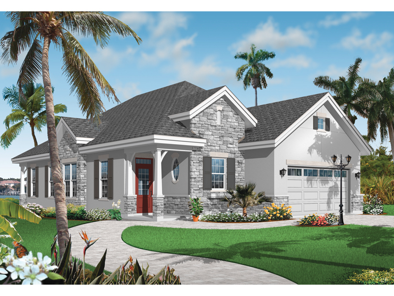 Ranch House Plan Front of Home - 032D-0735 | House Plans and More