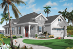 Florida House Plan Front of Home - 032D-0735 | House Plans and More