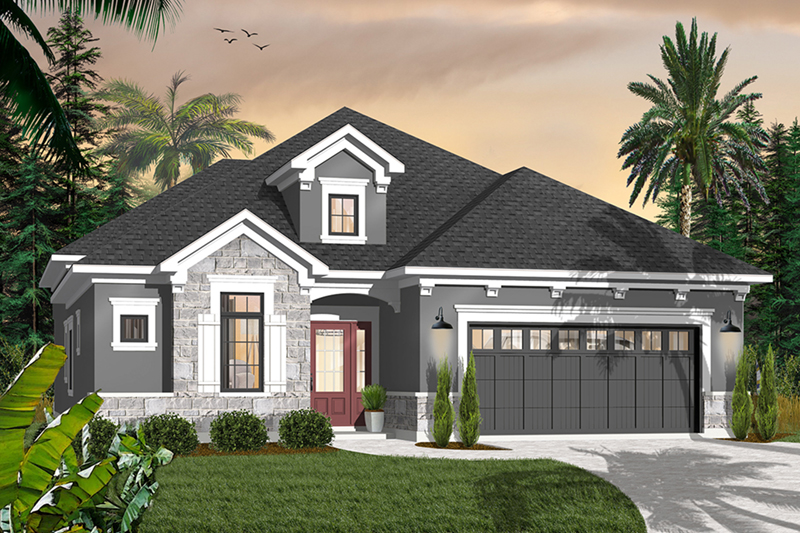 Ranch House Plan Front of Home - 032D-0736 | House Plans and More