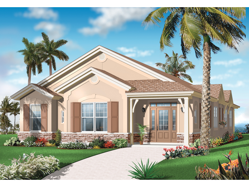 Florida House Plan Front of Home - 032D-0737 | House Plans and More