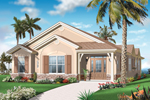 Waterfront House Plan Front of Home - 032D-0737 | House Plans and More