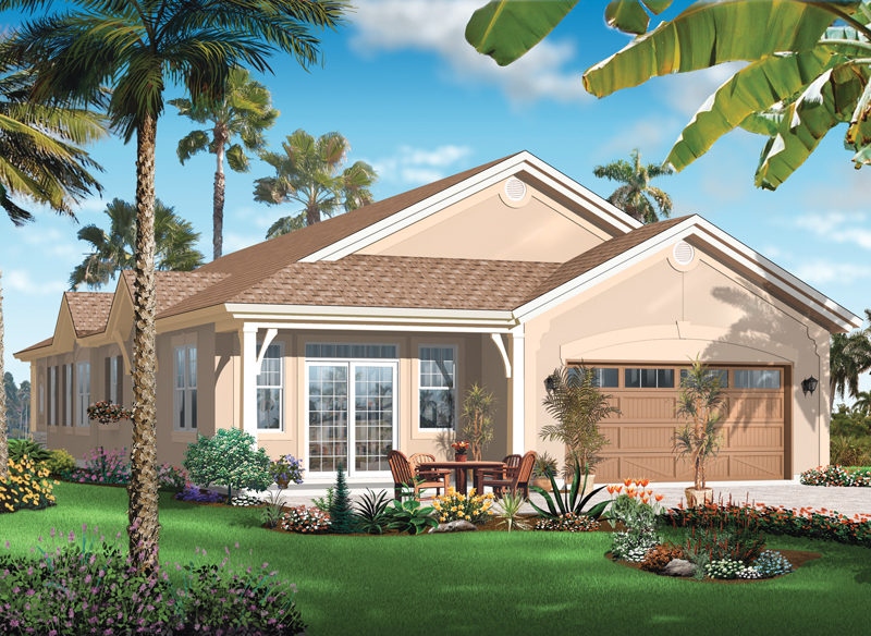 Mediterranean House Plan Color Image of House - 032D-0737 | House Plans and More