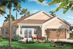 Waterfront Home Plan Color Image of House - 032D-0737 | House Plans and More