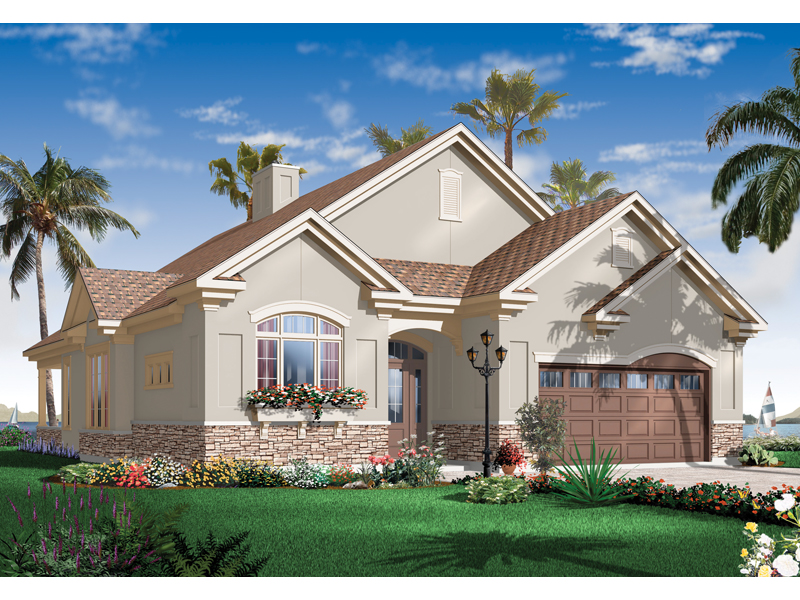 Florida House Plan Front of Home 032D-0738