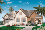 Florida House Plan Front of Home - 032D-0739 | House Plans and More